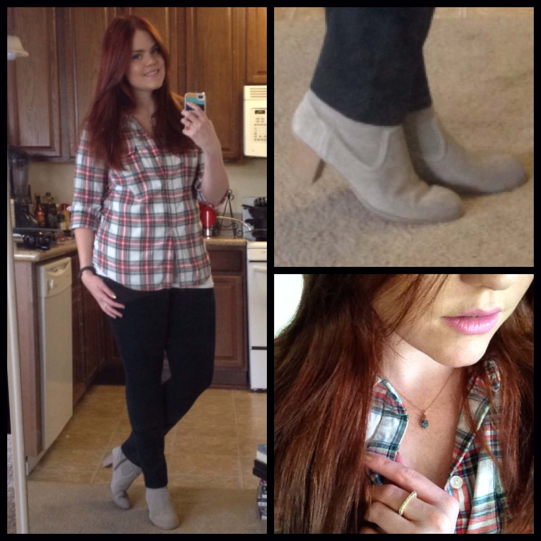 Lookbook OOTD casual outfit kyle chan design flannel plaid skinny jeans